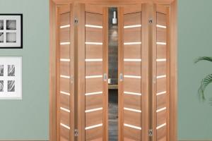 Межкомнатная складная дверь-книжка: основные преимущества.